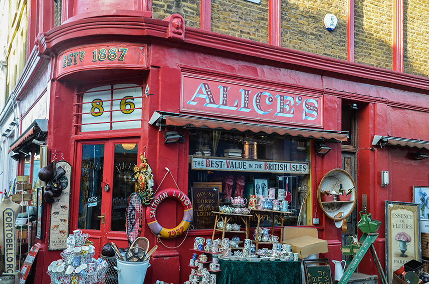 Alice's Antiques at Notting Hill