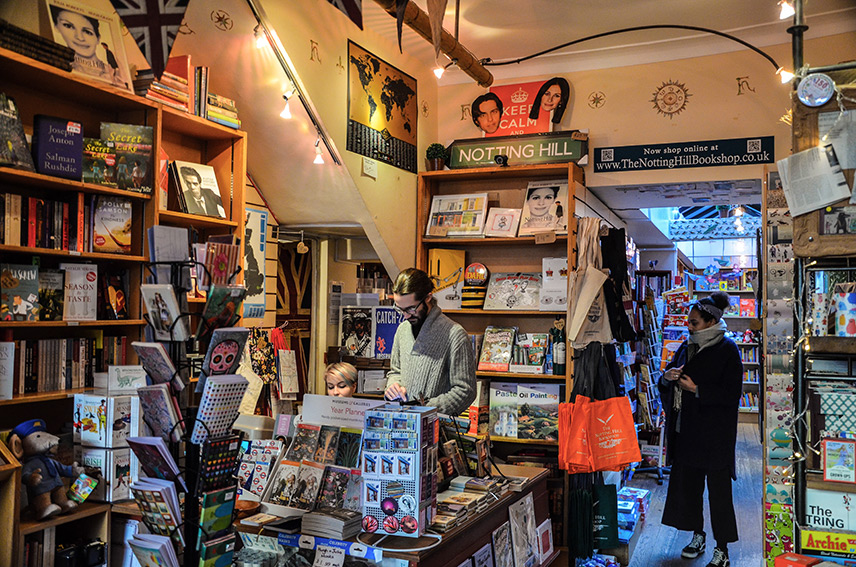Notting Hill Bookshop Interior