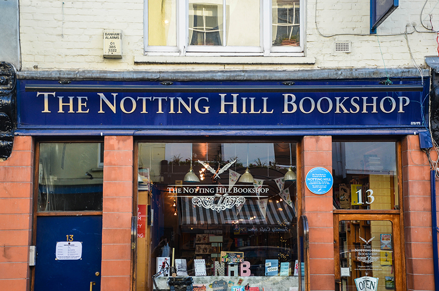 Notting Hill Bookshop Exterior