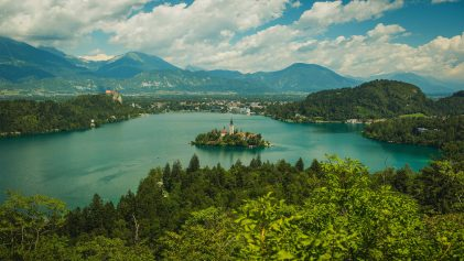 Assumption of Mary Pilgrimage Church on Lake Bled Island Slovenia | THIS IS: POLAND + CZECH REPUBLIC + SLOVENIA | This Is | Travel Video | ANYDOKO