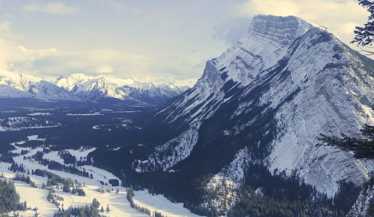 Snowy Mountain in Banff National Park   Winter Adventures in Banff   Canada Travel Video   ANYDOKO