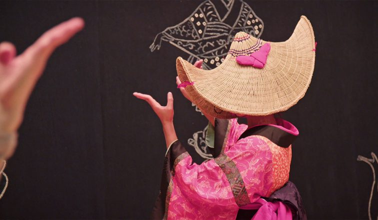 Woman in pink kimono dancing | Nishimonai Bon Odori - The Dance For the Deceased | Japanoizy | Japan Travel Video | ANYDOKO