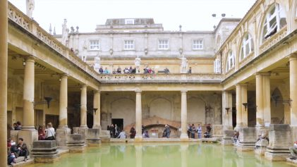 The Ancient Roman Baths Bath House | Beautiful Ancient Roman Baths | United Kingdom Travel Video | ANYDOKO