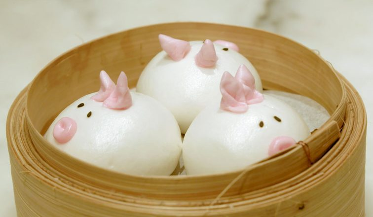 Pork Buns decorated as pigs | The Best Yum Cha In Hong Kong | Hong Kong Travel Video | Hong Kong | ANYDOKO