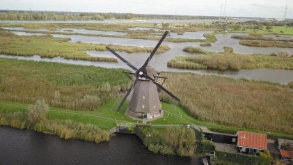 Windmills in Netherlands | Netherlands From Above | Netherlands Travel Video | ANYDOKO