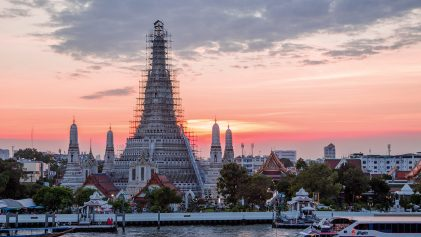 grand palace sunset in bangkok | Bangkok Bike Tour | Thailand Travel Video | ANYDOKO